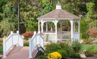 Gazebo with fireplace